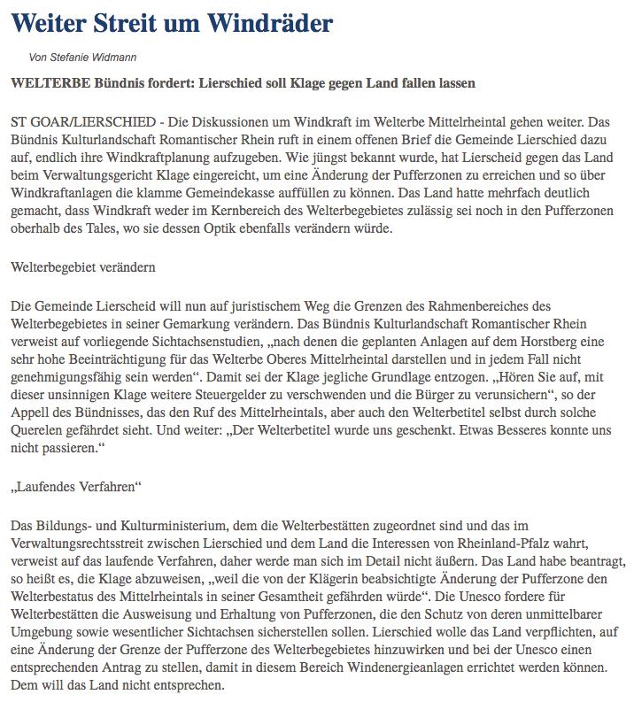 Allgemeine Zeitung v. 18.08.2015