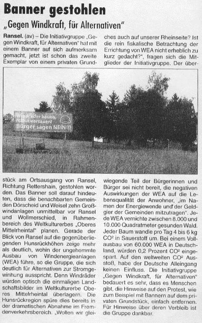 Rheingau - Echo v. 25.06.2015