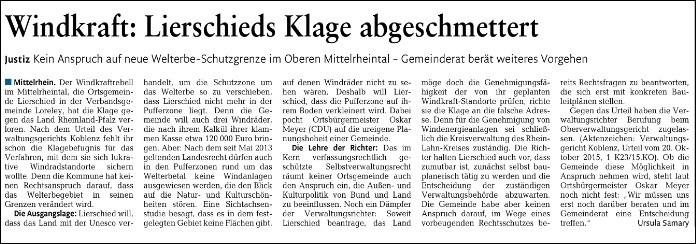 Rhein-Lahn-Zeitung v. 28.10.2015