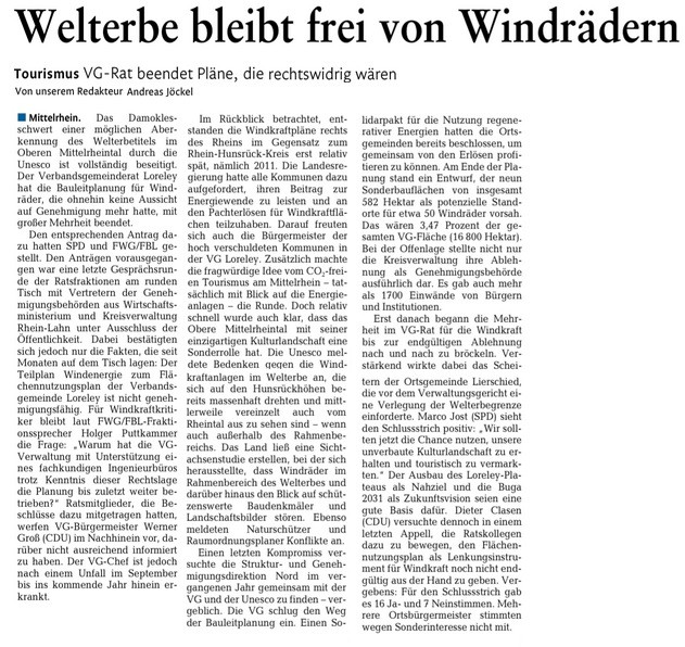 Rhein-Lahn-Zeitung v. 17.12.2015