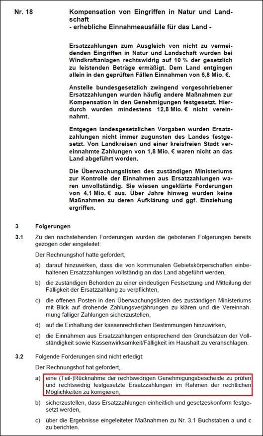 Auszug aus Jahresbericht 2016 des Landesrechnungshofes Rheinland-Pfalz vom 12.01.2016