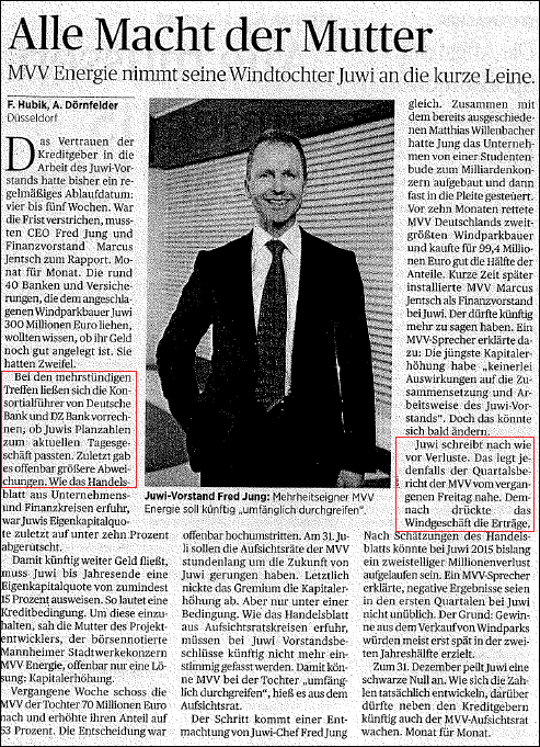 Handelsblatt v. 17.08.2015