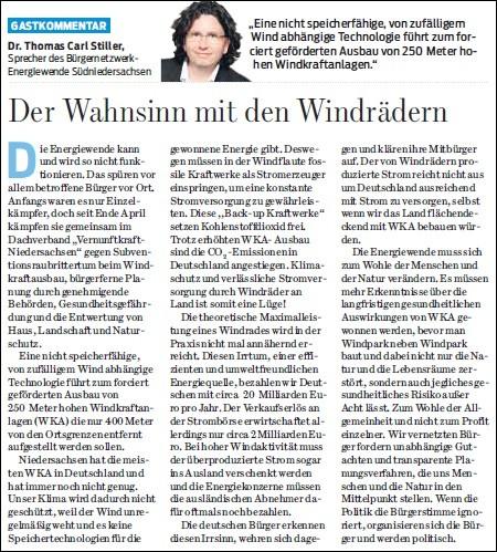 Braunschweiger Zeitung v. 04.05.2015