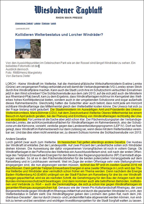Wiesbadener Tagblatt v. 04.08.2015