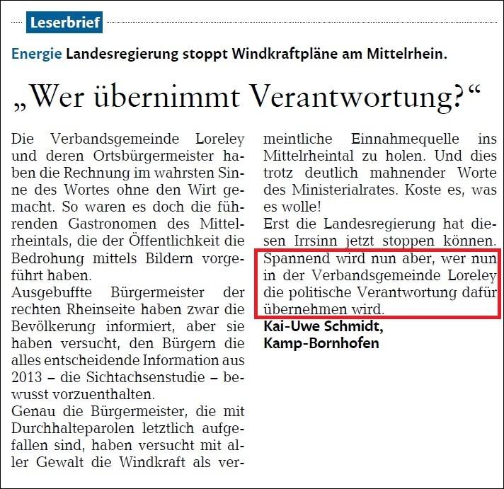 Rhein-Lahn-Zeitung v. 10.08.2015