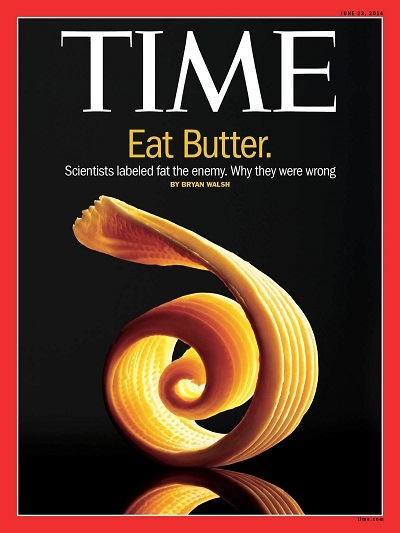Time magazine finally promoting healthy fats in 2014!
