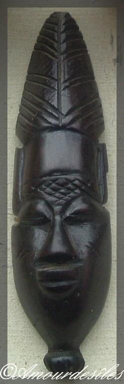 Masque en Ebène du Centre Afrique...