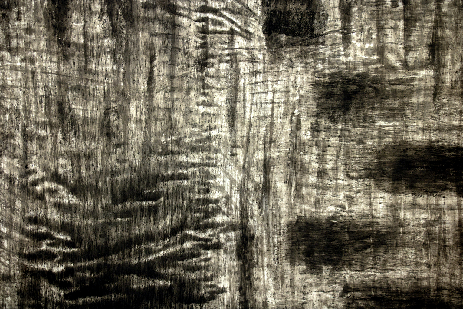 details of monosema - ashes on paper, 140 x 320 cm - 2019