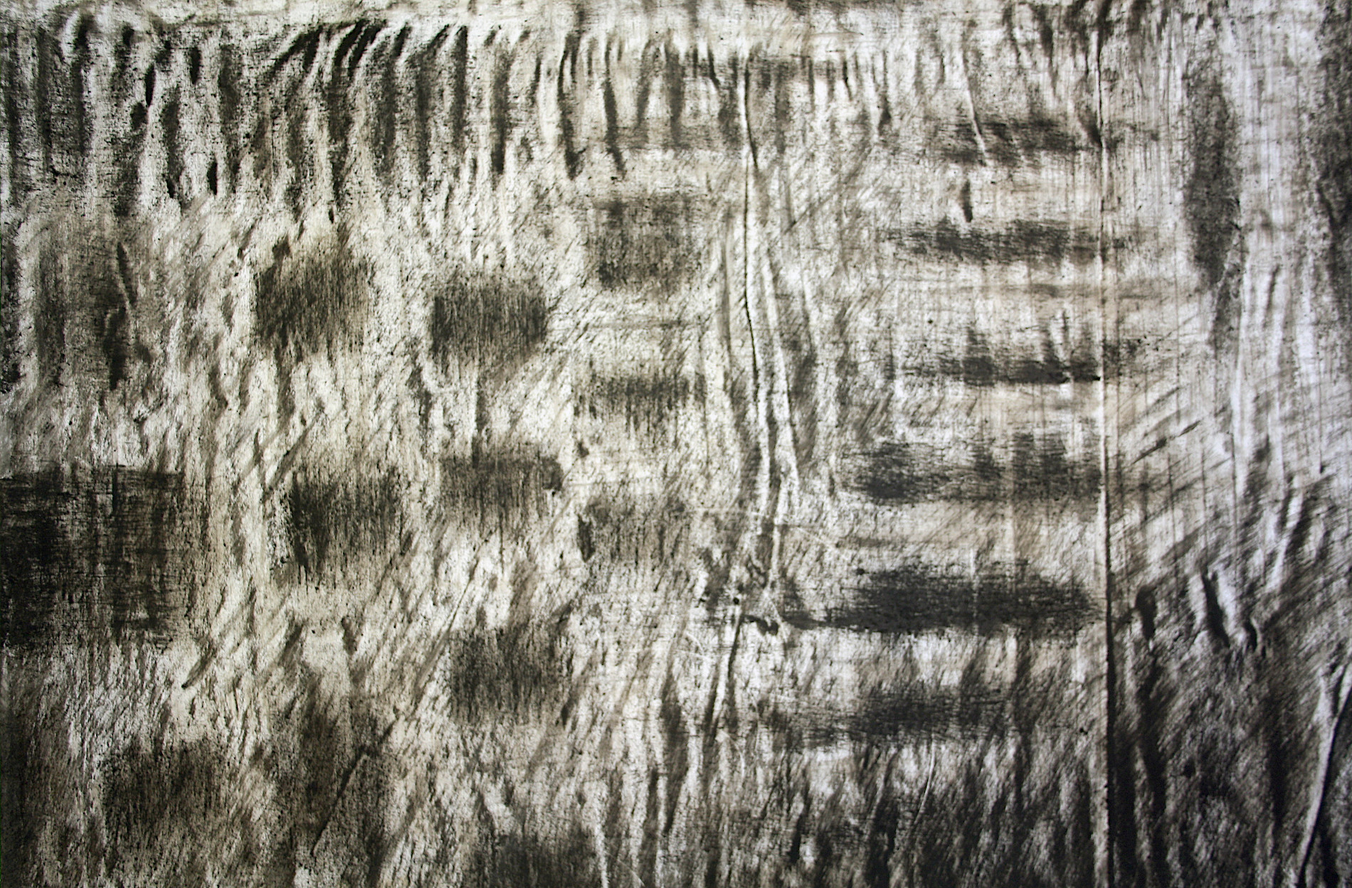 Detail of monosema - 2017 - ashes on paper, 185 x 300 cm
