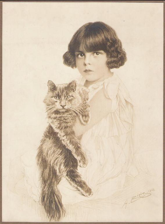 Niña Ester Zemborain Doje 1923 fusain André Aaron Bilis