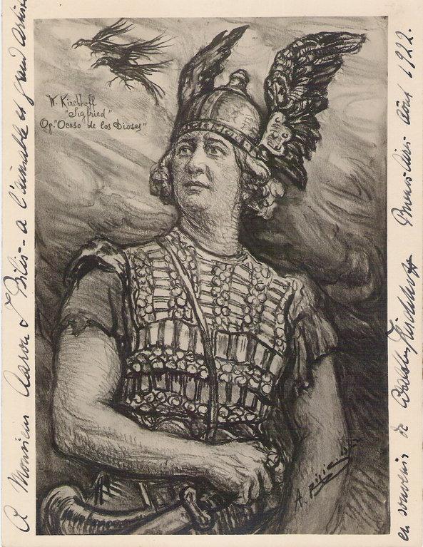 teatro Colon -Le crepuscule des dieux  1922