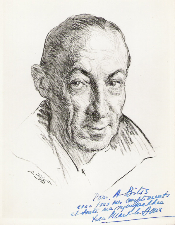 Jean Picard le Doux, peintre 1944 fusain A.Bilis