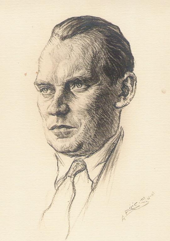 Alékhine champion monde echecs 1927 fusain André Aaron Bilis