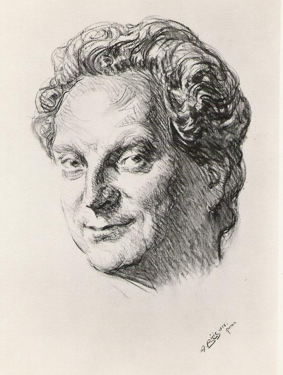 Levi Carlo, peintre 1956 fusain André Aaron Bilis