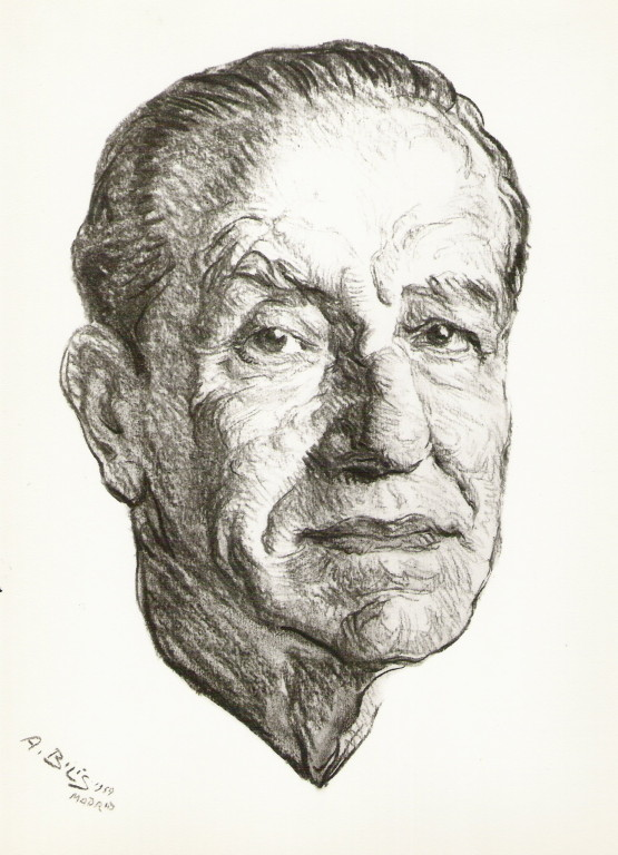 Juan Belmonte le grand torero 1959 fusain André Aaron Bilis