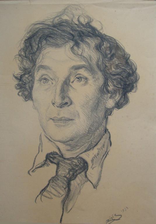 Marc Chagall, peintre 1933 fusain André Aaron Bilis