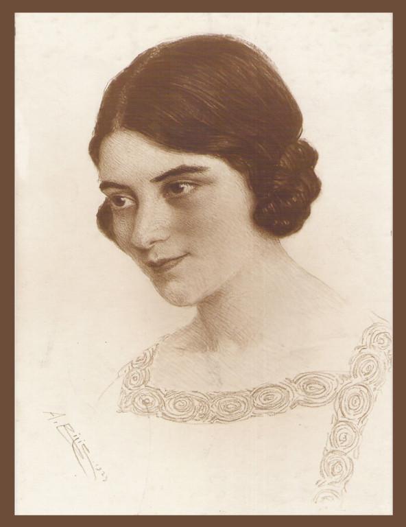 Inconnue 1923 fusain André Aaron Bilis