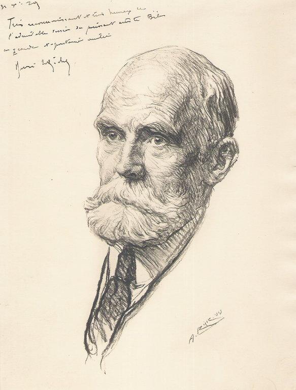 Leriche Henri, peintre 1929 fusain André Aaron Bilis