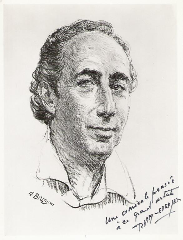 Raffy le Persan, peintre1966 fusain André Aaron Bilis