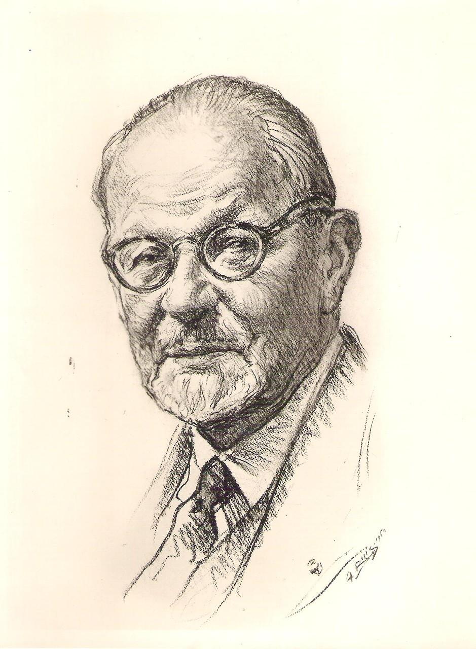 Louis  Montagné 1954 fusain André Aaron Bilis
