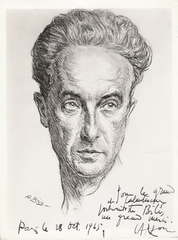 Carzou, peintre 1965 fusain André Aaron Bilis