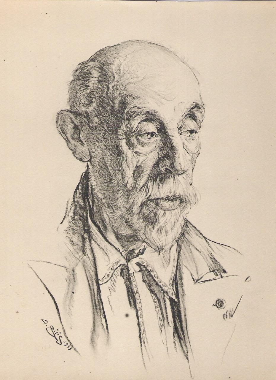 Paul Gervais peintre Toulouse 1943 fusain André Aaron Bilis