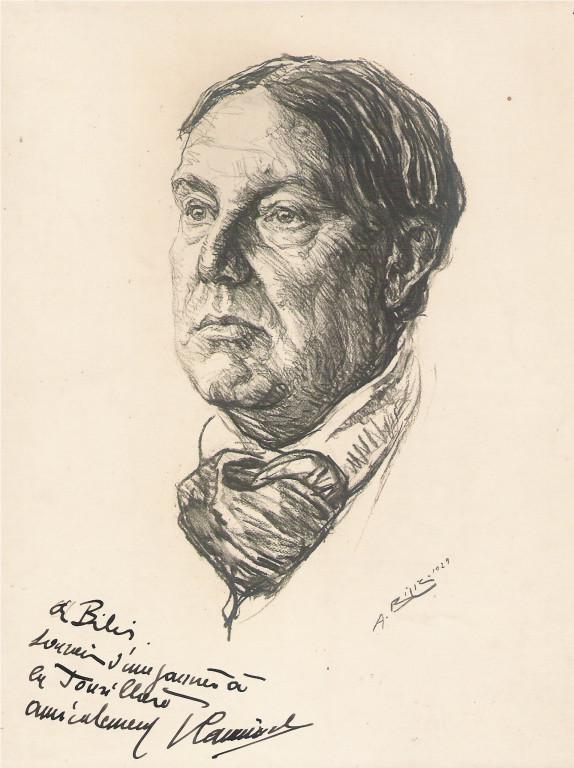 Vlaminck, peintre 1929 fusain André Aaron Bilis
