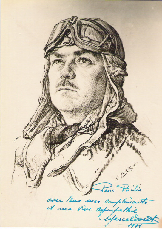 Marcel Doret  1940 fusain André Aaron Bilis