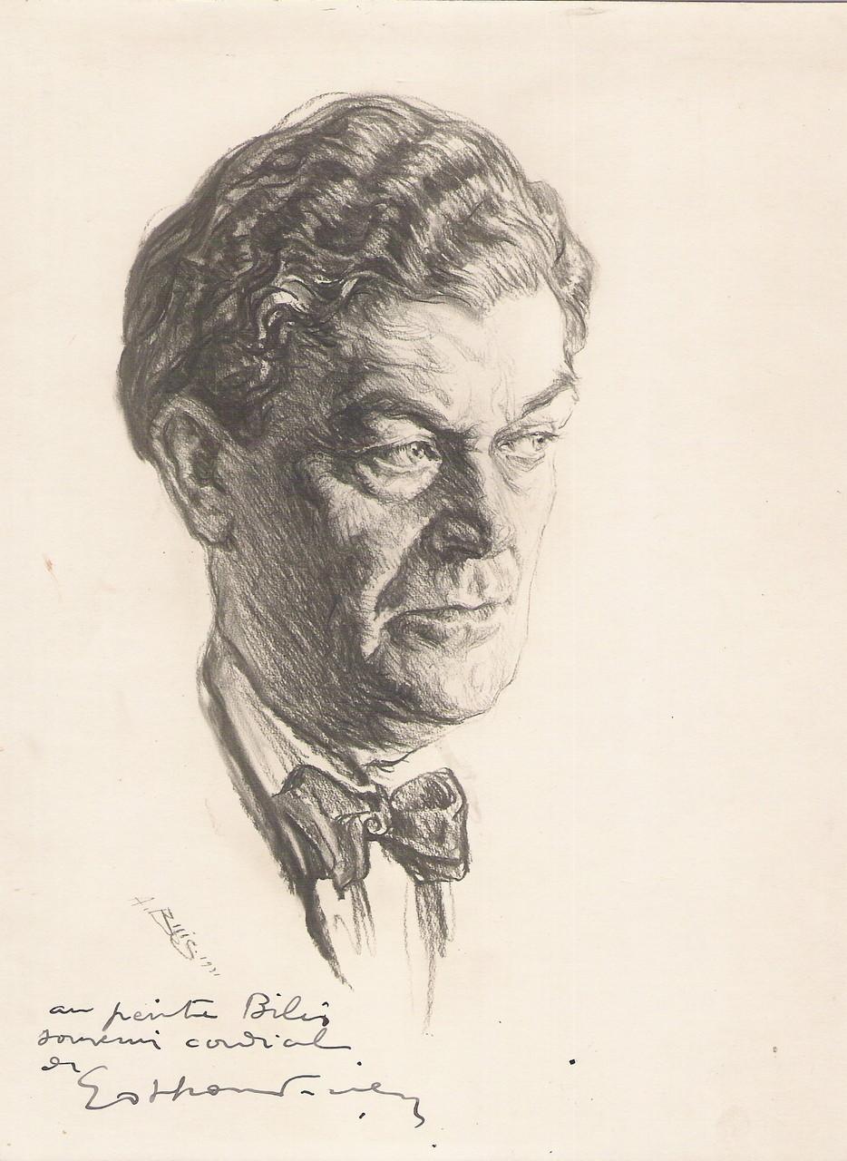 Othon Friesz peintre  1931 fusain André Aaron Bilis