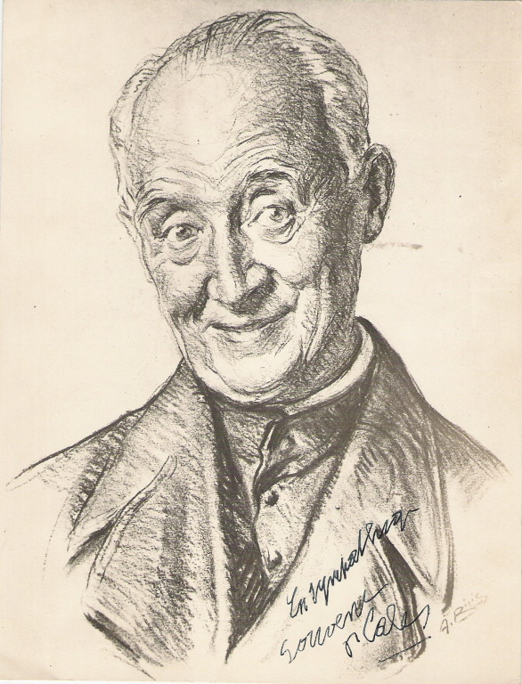 Abbé Cales, peintre fusain André Aaron Bilis