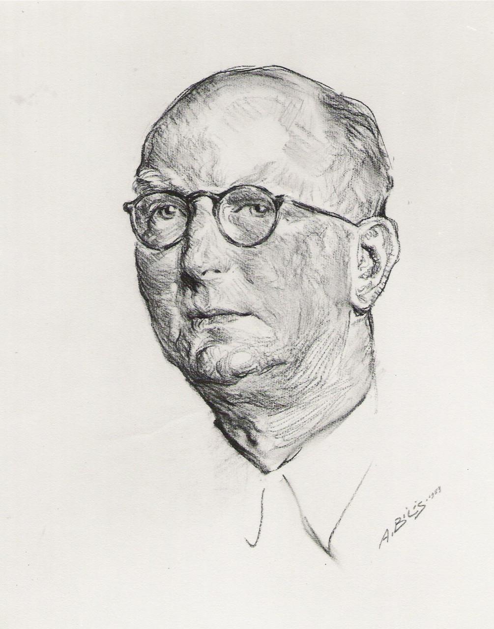 Marce lGromaire  1959 fusain André Aaron Bilis