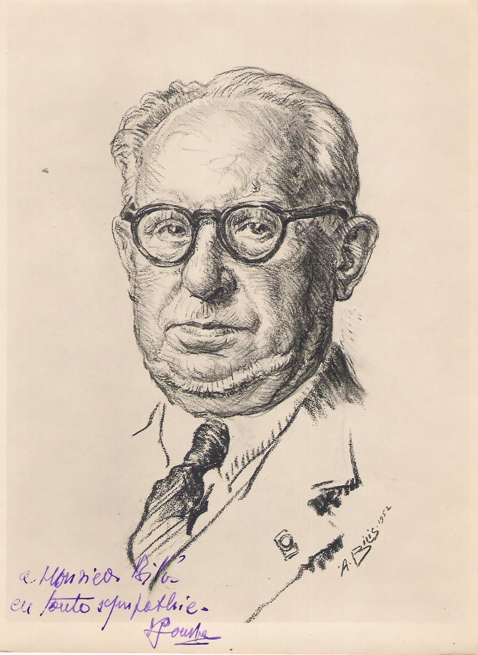 Paul Jouve  peitntre et sculpteur  1952 fusain André Aaron Bilis