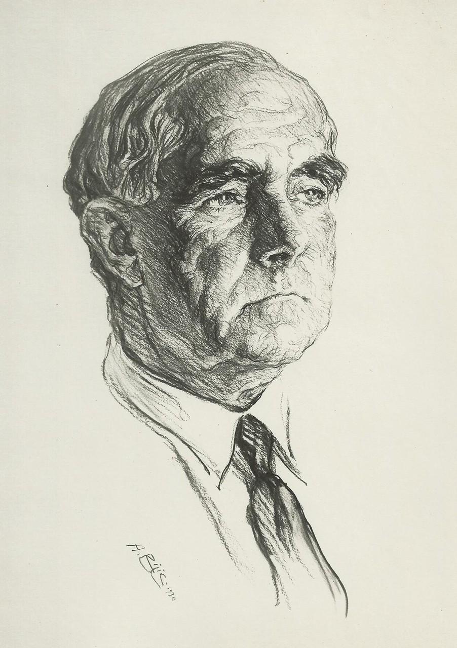 Anglada Camarasa  1930 fusain André Aaron Bilis