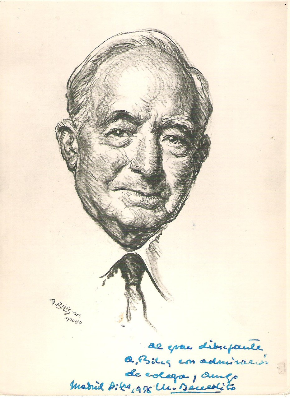Manuel Benedito  1958 fusain André Aaron Bilis
