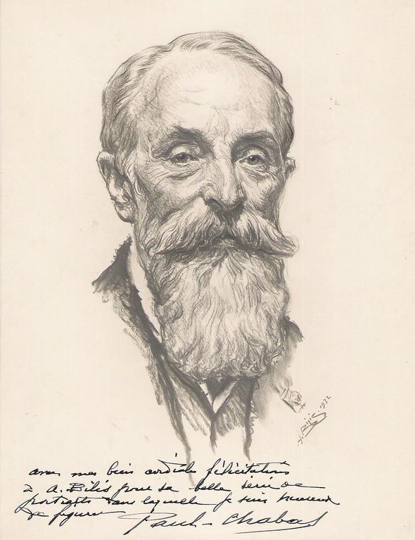 Chabas Paul, peintre 1932 fusain André Aaron Bilis