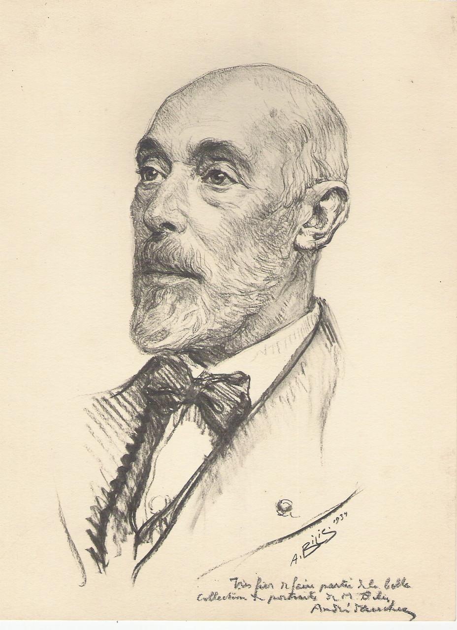Andre Dauchez peintre  1934 fusain André Aaron Bilis