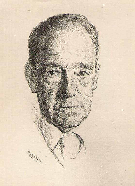 Zubiaurre, peintre 1959 fusain André Aaron Bilis