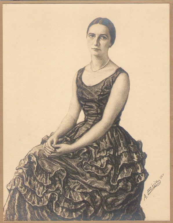 Inconnue 1924 fusain André Aaron Bilis