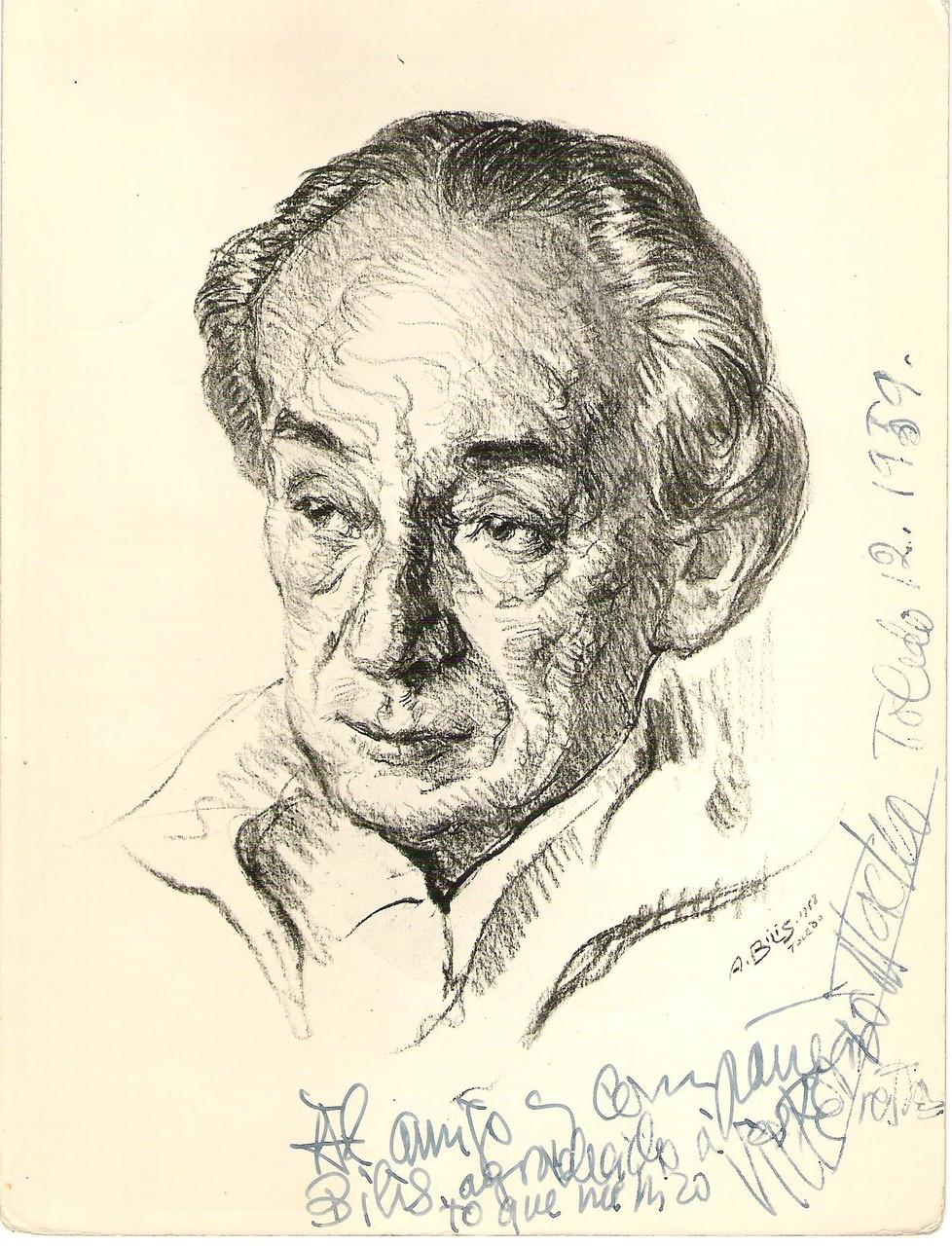 Macho Victorio Toledo 1958 fusain André Aaron Bilis