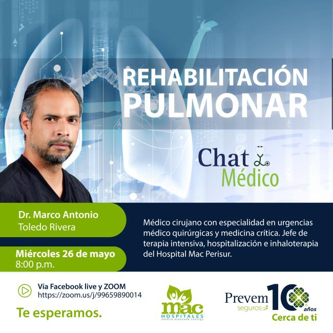 Chat Médico Virtual Rehabilitación Pulmonar