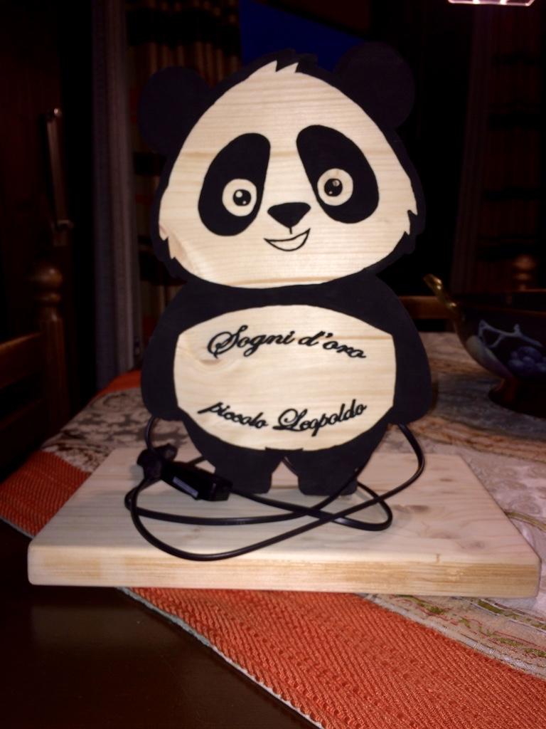 Lampada panda per neonato