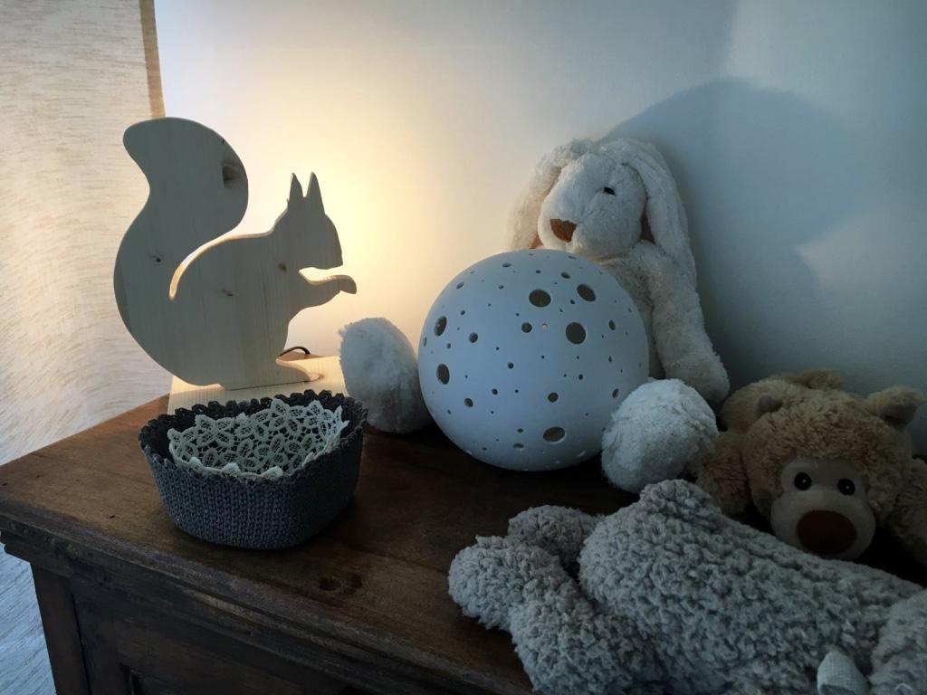 Lampada scoiattolo