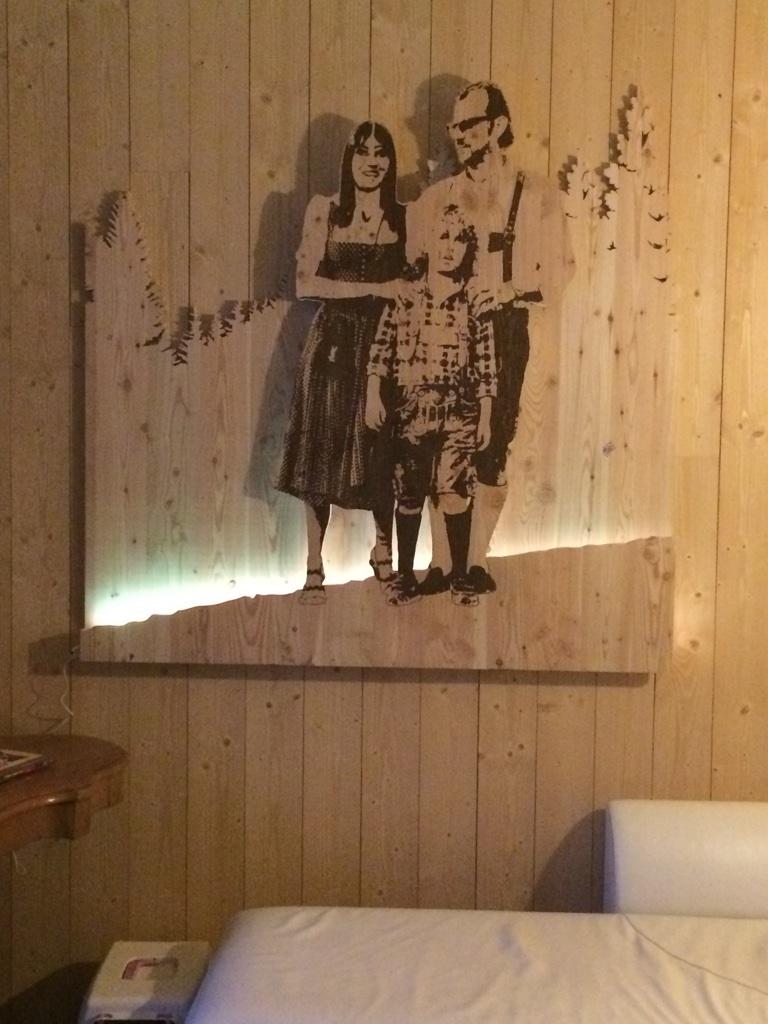 Ritratto di famiglia con luce Led per cromoterapia