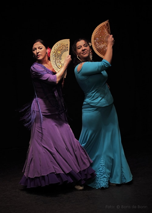 Flamenco-Tänzerinnen & -Dozentinnen Simi (l) & Rosa Martínez
