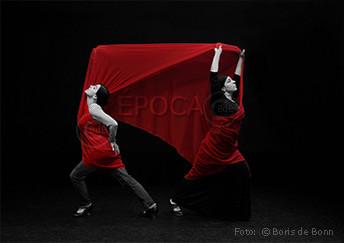 Titelfoto zum Famenco-Bühnenstück Época für die deutschen Uraufführung in 2014 von/mit den Flamenco-Tänzerinnen Rosa Martínez & Simi / Colorkey-Foto by Boris de Bonn