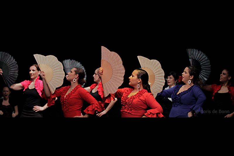 Flamencotanz Guajira mit Abanico (Fächer)