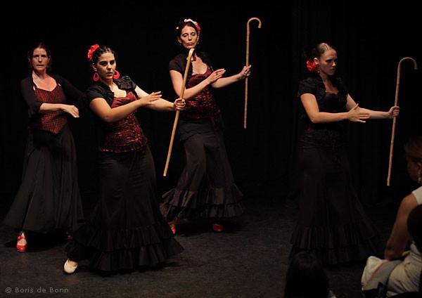 Flamencotanz Seguiriyas mit Bastón (Gitarre: Franco Carmine)