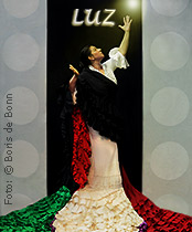 Titelfoto mit Leonor Leal beim Flamenco-Festival 2018 im tanzhaus nrw/Color-Foto by Boris de Bonn