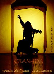 "Titelfoto zur Flamenco-Aufführung ""GRANADA"" am 15.12.18 im Tanzstudio La Fragua in Bonn/Color-Foto by Boris de Bonn"