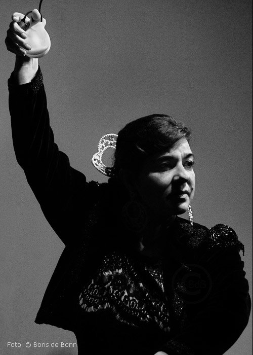 Flamenco-Tänzerin Rosa Martínezon stage